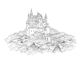 Famous French Castle Landscape. Travel france Background. Castle
