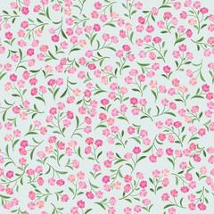 Floral pattern. Flower seamless background. Flourish ornament. Spring garden texture