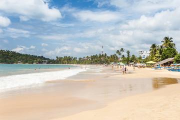 Beautiful landscape tropical beach.