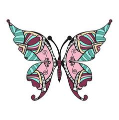 Vector illustration of a mandala colored butterfly, farfalla mandala colorata vettoriale