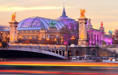 Paris, la seine près du grand palais et du pont Alexandre-iii Fototapete