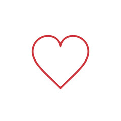 Heart Icon outline Vector. Love symbol. Valentine's Day sign.