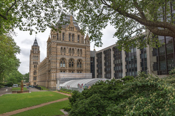 LONDON, ENGLAND - JUNE 18 2016: Amazing view of Natural History Museum,  London, Great Britain