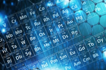 Periodic Table Blue Background
