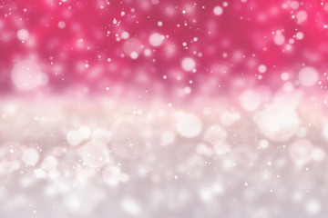 Pink and white glittering and sparkling abstract background