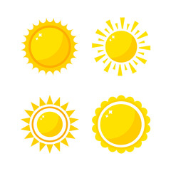 Sun icons collection vector illustration.
