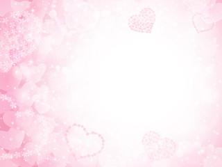 バレンタイン ハート 桜 背景