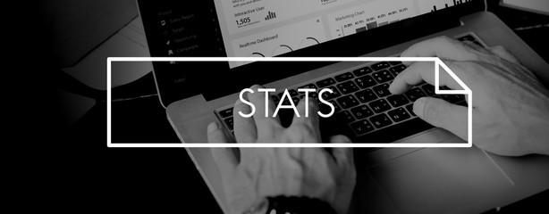 Stats Analyze Commerce Economic Finance Sales Conecept