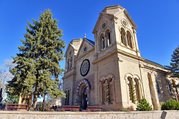Saint Francis Cathedral also known as Cathedral Basilica of St. Francis of Assisi Santa Fe, New Mexico