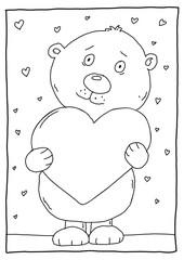 Ausmalbild Bär