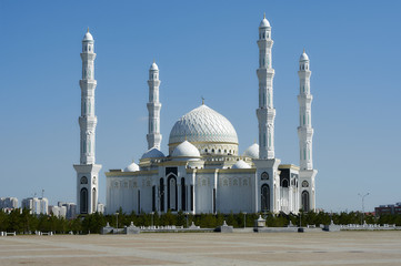 New Mosque Hazrat Sultan in the Kazakh capital Astana.
