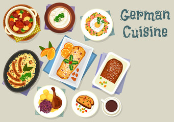 German cuisine Christmas dishes for dinner icon