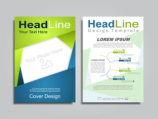 Brochure design layout with place for your data. Vector