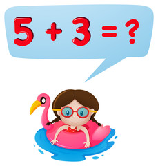 Little girl and math question