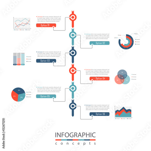 Infographic Timeline Template Can Be Used For Chart, Diagram, Web