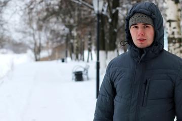 alone white men in winter