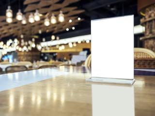 Mock up Menu on Table Bar Restaurant Cafe Event Party Lighting Decoration