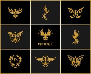 Phoenix - Eagle Logo Set