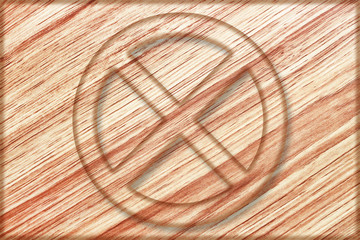 do not stop sign on wooden board