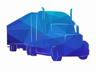silhouette of a truck. vector drawing
