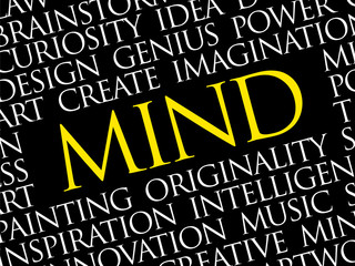 MIND word cloud collage, creative business concept background