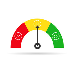 Color vector emoji tachometer