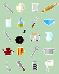 Kitchen set - vector