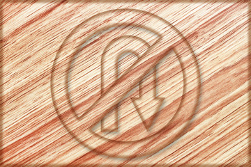 no right u turn sign on wooden board
