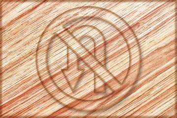no left u turn sign on wooden board
