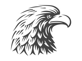 Eagle head - vector illustration on white background