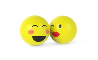 Verliebte Smileys