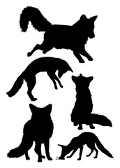 Fox mammal animal silhouette. Good use for symbol, logo, web icon, mascot, sign, or any design you want.