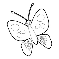 Butterfly icon, isometric 3d style