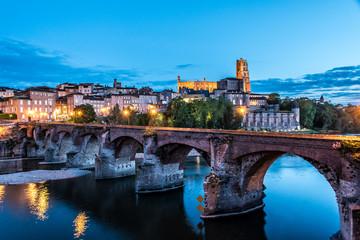 Pont Vieux d'Albi de nuit