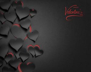 paper hearts , happy valentine's day  - 3D romantic card / background ( love , valentine )