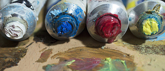 Oil painting colors