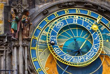 Astronomical Clock Orloj in the Old Square of Prague. Czech Republic