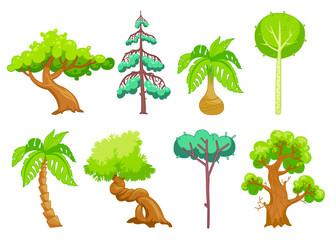 Cartoon Trees clip art