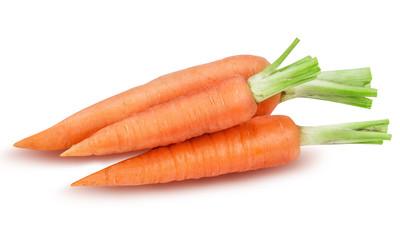 three ripe carrot