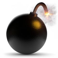 3d Bomben Explosion, Zeichen für Krieg und Terrorismus