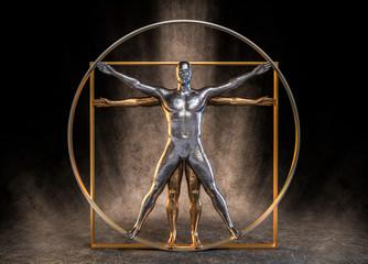 3d Leonardo Da Vinci Körperhaltung menschliche Gestalt