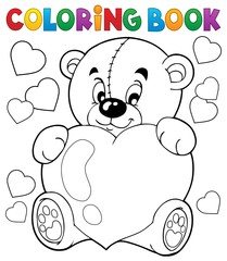 Door stickers For Kids Coloring book Valentine theme 9