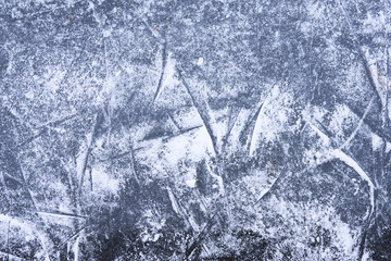 ice background with marks from skating and hockey, Ice rink floor, winter sports