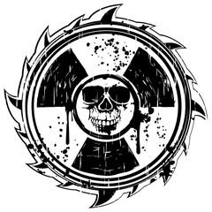 sign radiation to skull