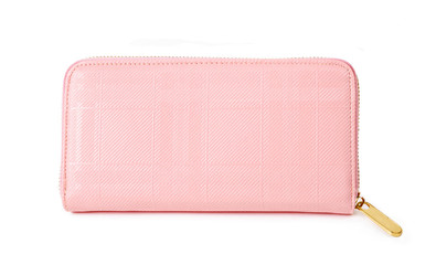 Pink purse isolated.