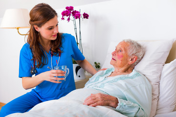 Helping out elderly patient