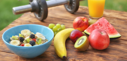 Banner mit vitaminreicher Kost
