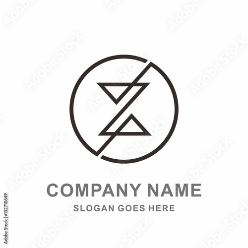Monogram Letter Z Geometric Circle Triangle Fashion Arel Clothing Business Company Stock Vector Logo Design Template