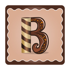 Letter b candies