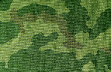 Color camouflage cloth surface.